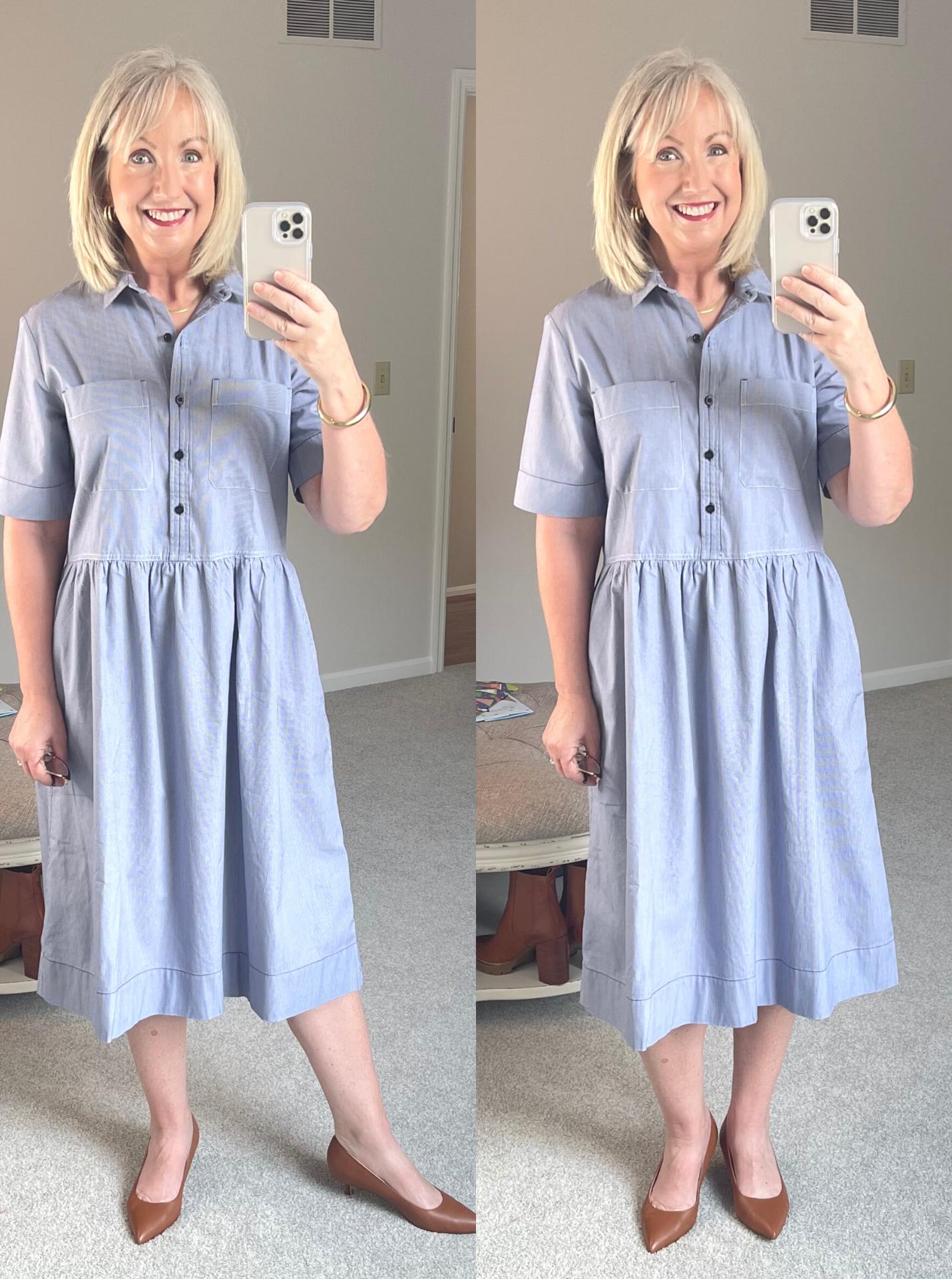 Back to the Classroom blue dress