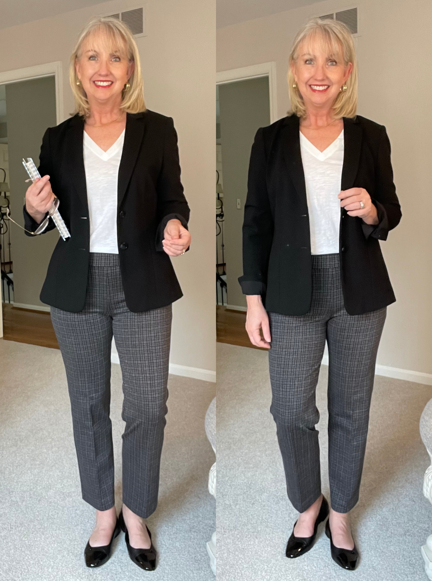 Back to the Classroom tee and blazer