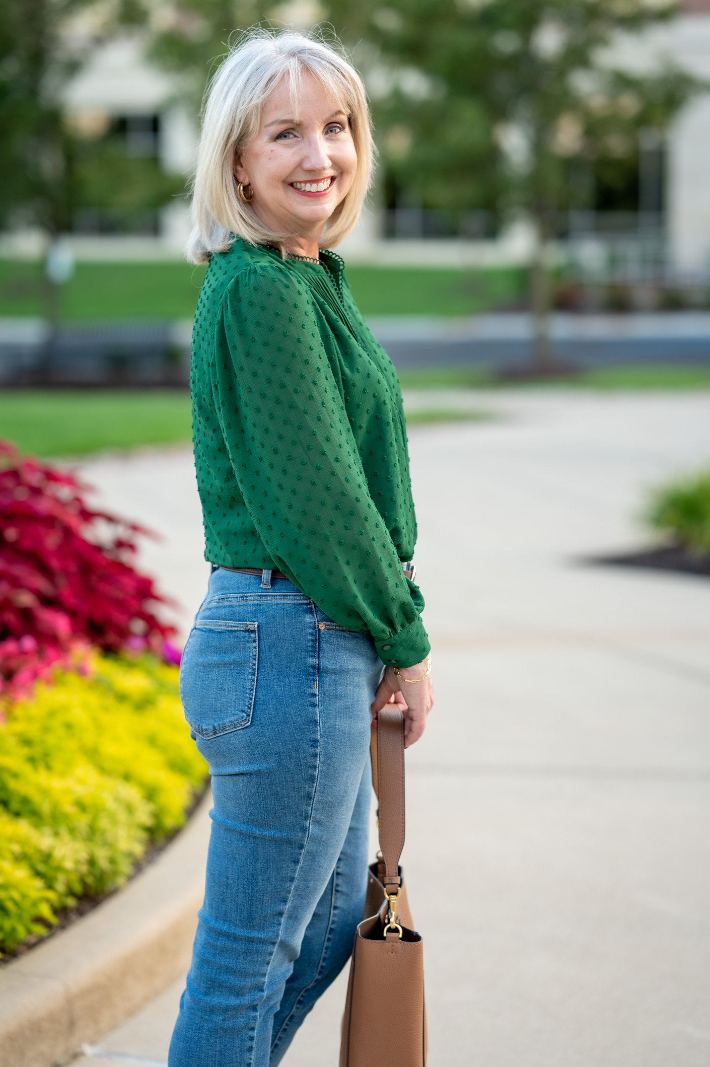 Clip Dot blouse for a casual fall look