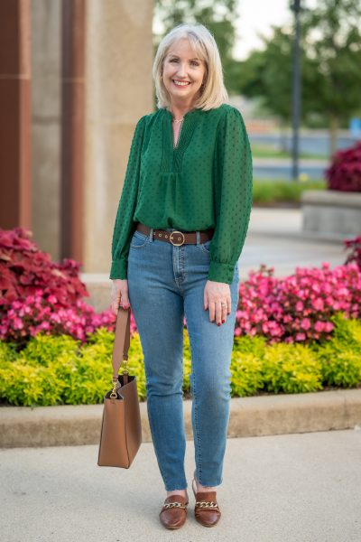 Styling a Green Blouse