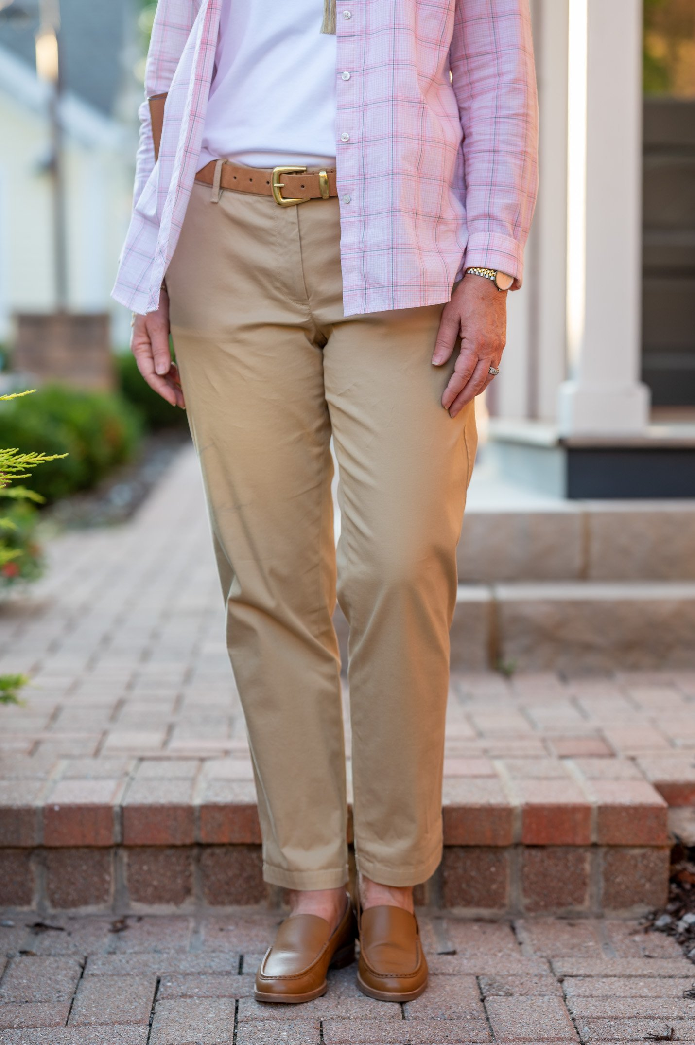 Relaxed Chinos in Sand Castle