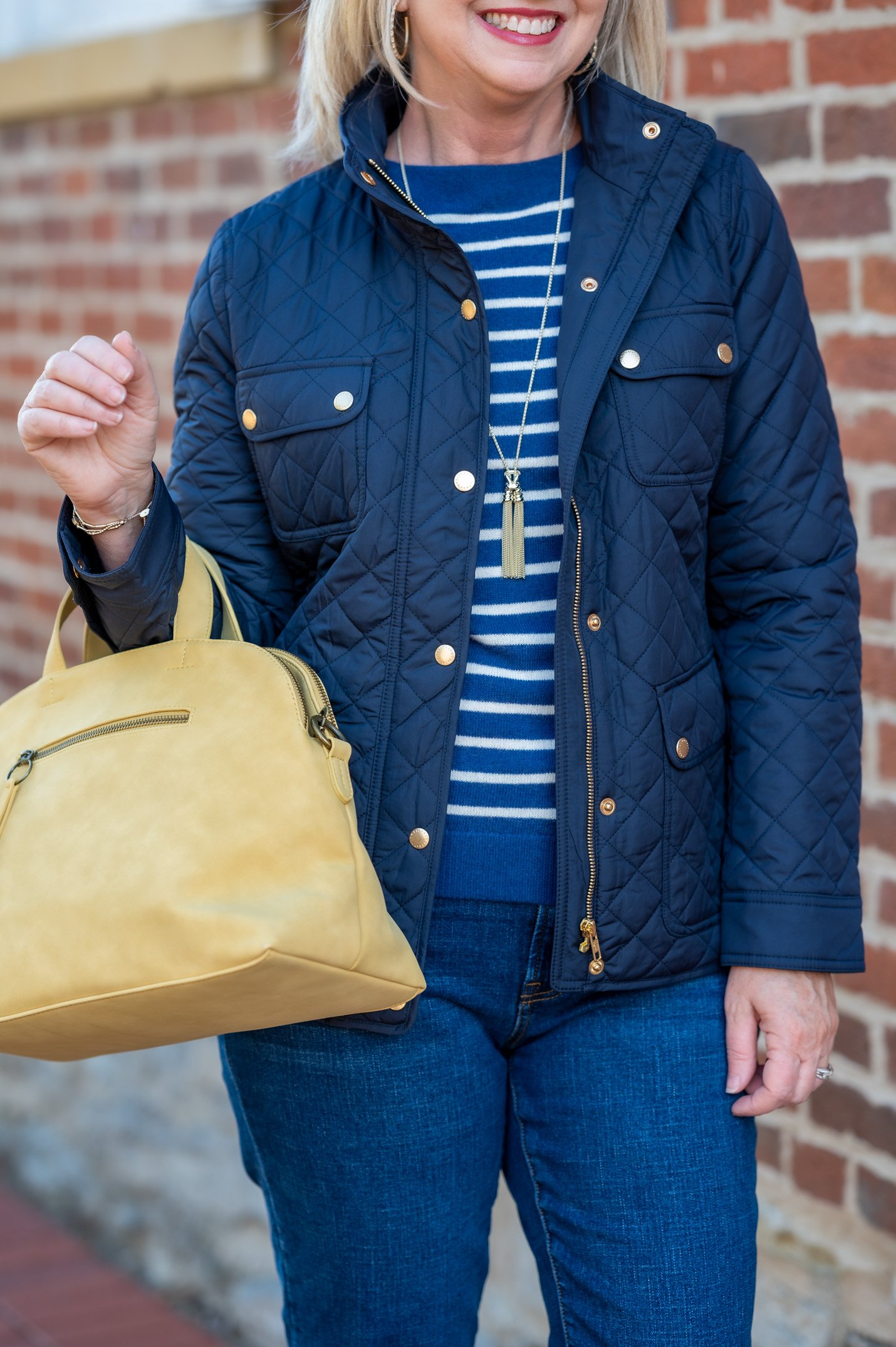 Cashmere Sweater with Quilted Jacket