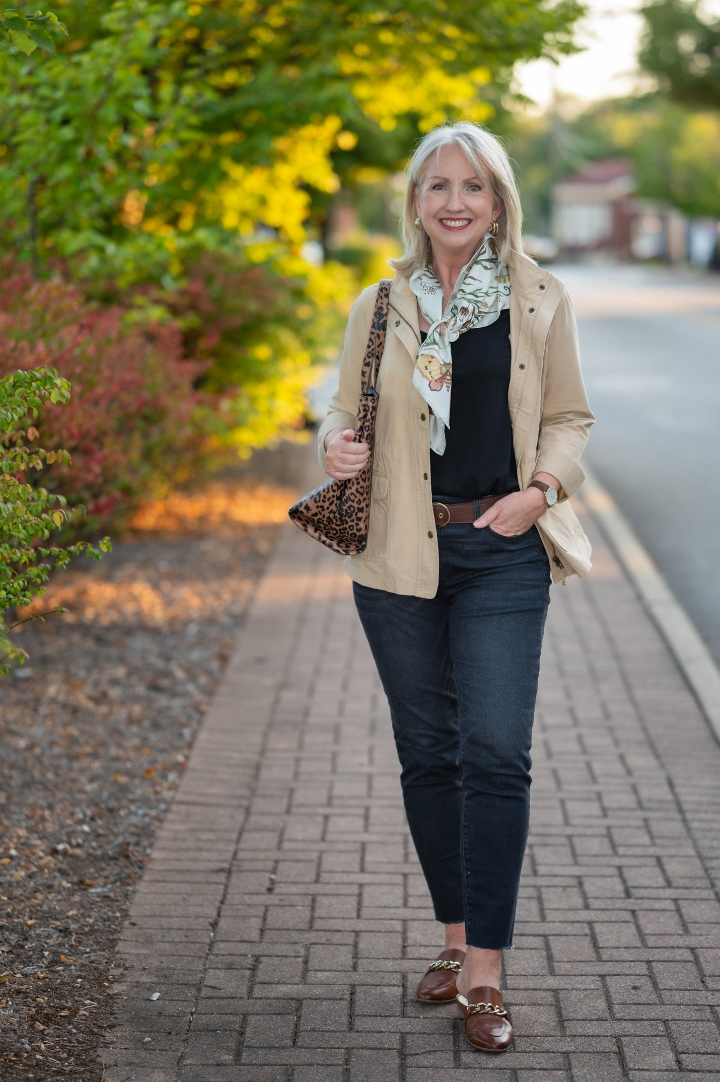 Early Fall Outfit with Mixed Neutrals