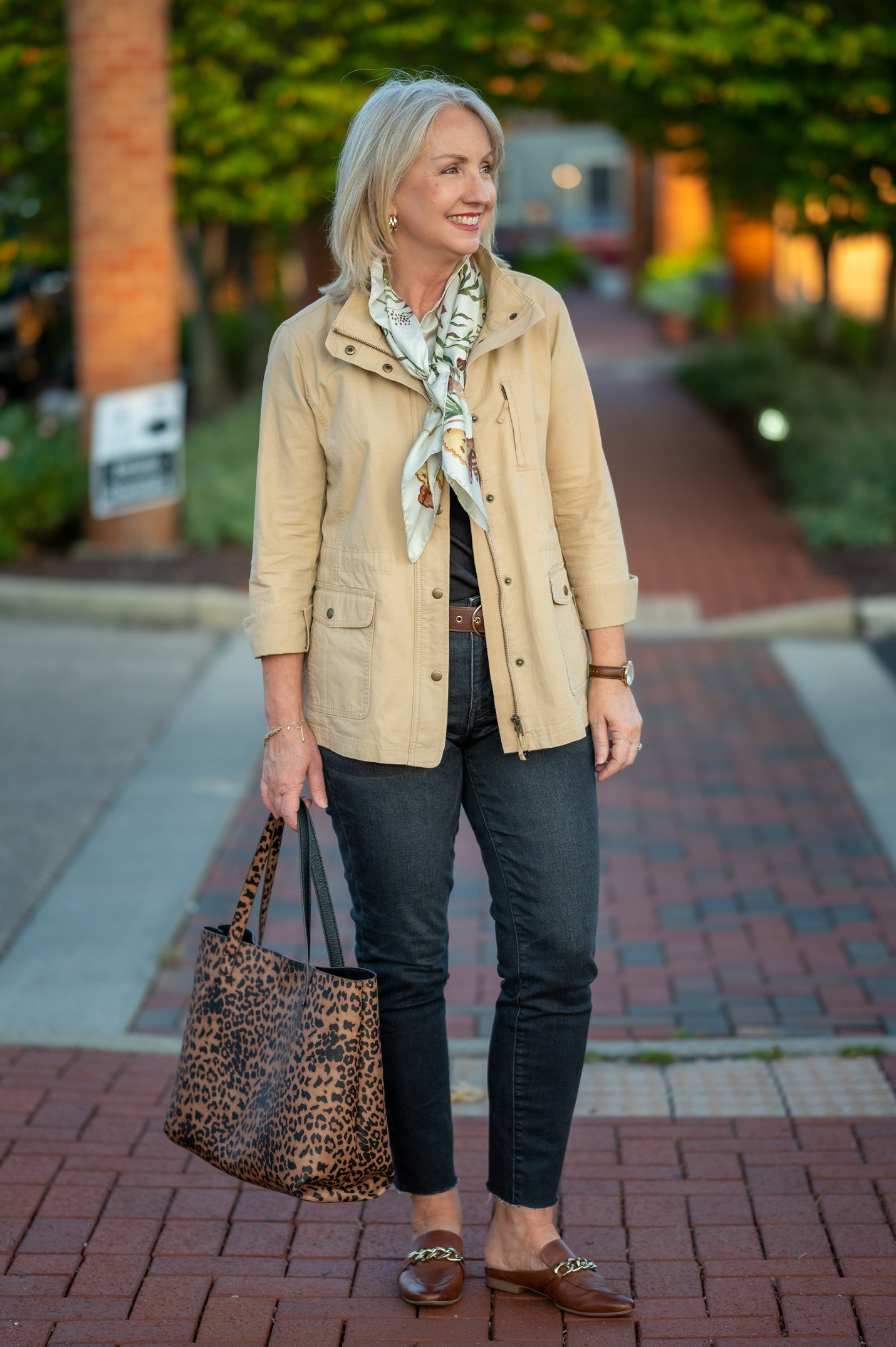 Mixing Neutrals and Prints for Fall
