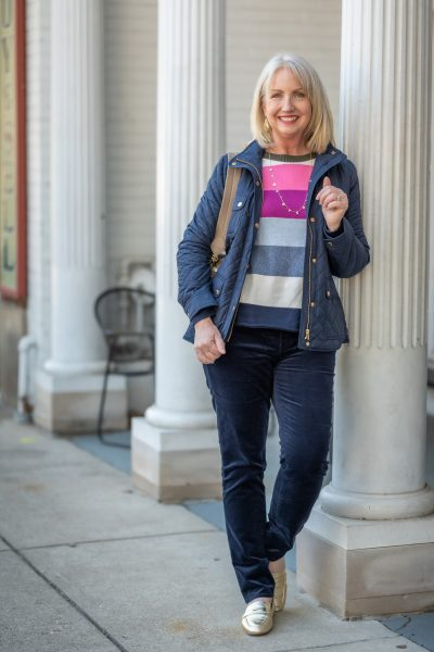 A Colorful Sweater & Cords...2 Ways!
